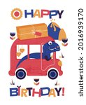 greeting card with the... | Shutterstock .eps vector #2016939170