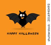 happy halloween orange...   Shutterstock .eps vector #2016940493