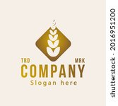 wheat rice agriculture logo...   Shutterstock .eps vector #2016951200