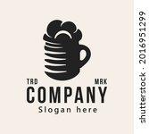 glass of beer  vintage logo...   Shutterstock .eps vector #2016951299