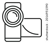 record camcorder icon outline...