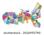 kid style map of elba. hand...   Shutterstock .eps vector #2016955790