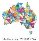 kid style map of australia....   Shutterstock .eps vector #2016955796