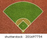 baseball court. top view field. ... | Shutterstock . vector #201697754