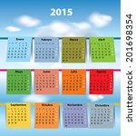 spanish calendar for 2015 like... | Shutterstock .eps vector #201698354