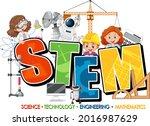 stem education logo with... | Shutterstock .eps vector #2016987629