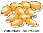 a sticker template with corn... | Shutterstock .eps vector #2016987836