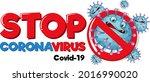 stop coronavirus banner with... | Shutterstock .eps vector #2016990020