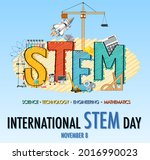 international stem day on... | Shutterstock .eps vector #2016990023