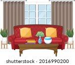 living room furniture design on ... | Shutterstock .eps vector #2016990200