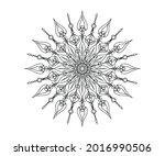 black color mandala ornament... | Shutterstock .eps vector #2016990506
