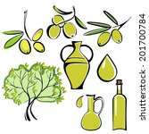 olive and olive oil  icon  set... | Shutterstock .eps vector #201700784