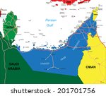 united arab emirates map | Shutterstock .eps vector #201701756