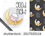 cute animal baby sheep sleeping ...   Shutterstock .eps vector #2017020116