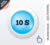 10 dollars sign icon. usd...