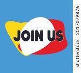join us. join us vector... | Shutterstock .eps vector #2017079876