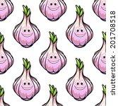 healthy fresh bulb of garlic... | Shutterstock .eps vector #201708518