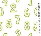 cartoon cactus numbers seamless ...