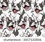 seamless wallpaper pattern.... | Shutterstock .eps vector #2017122836
