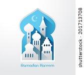creative greeting card design... | Shutterstock .eps vector #201713708