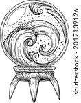 art line of the ball of...   Shutterstock .eps vector #2017139126