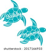 family turtle svg vector... | Shutterstock .eps vector #2017166933