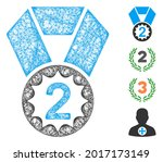 mesh second place web 2d vector ...   Shutterstock .eps vector #2017173149