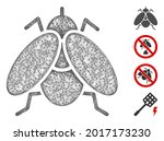 mesh fly insect web 2d vector... | Shutterstock .eps vector #2017173230