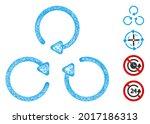 mesh rotation web 2d vector... | Shutterstock .eps vector #2017186313