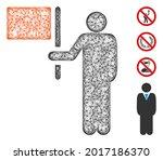 mesh leader with flag web 2d... | Shutterstock .eps vector #2017186370