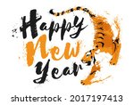 the year of the tiger greeting... | Shutterstock .eps vector #2017197413