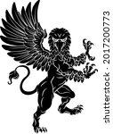 a griffin also known as a... | Shutterstock .eps vector #2017200773
