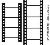 blank simple film strip set.... | Shutterstock .eps vector #201720113