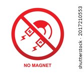 no magnet sign isolated on...   Shutterstock .eps vector #2017210553
