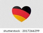 Germany Flag In Heart Shape...