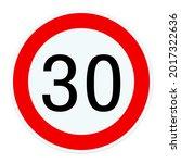 Road Sign Tempo 30 ...
