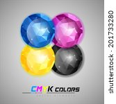four jewels as cmyk colors...   Shutterstock .eps vector #201733280