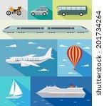 various types of transport  car ...   Shutterstock .eps vector #201734264