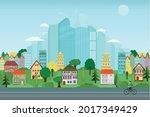 vector poster overlooking the...   Shutterstock .eps vector #2017349429