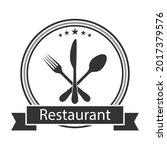 illustration logo of restaurant ... | Shutterstock .eps vector #2017379576