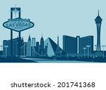 Stock vector las vegas skyline 201741368