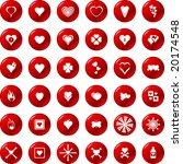 heart buttons set 1 | Shutterstock .eps vector #20174548