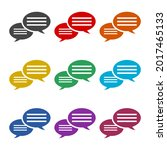 conversation color icon set...