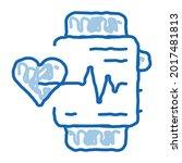 watch heartbeat sketch icon...   Shutterstock .eps vector #2017481813