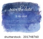 vector watercolor night sky... | Shutterstock .eps vector #201748760