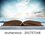 window sill and book    Shutterstock . vector #201757148