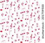 music seamless pattern. vector... | Shutterstock .eps vector #201759500