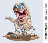scary mummy dinosaur trex... | Shutterstock .eps vector #2017627766