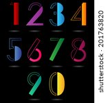 colorful numbers set. | Shutterstock .eps vector #201763820