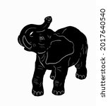 silhouette of an elephant with... | Shutterstock .eps vector #2017640540